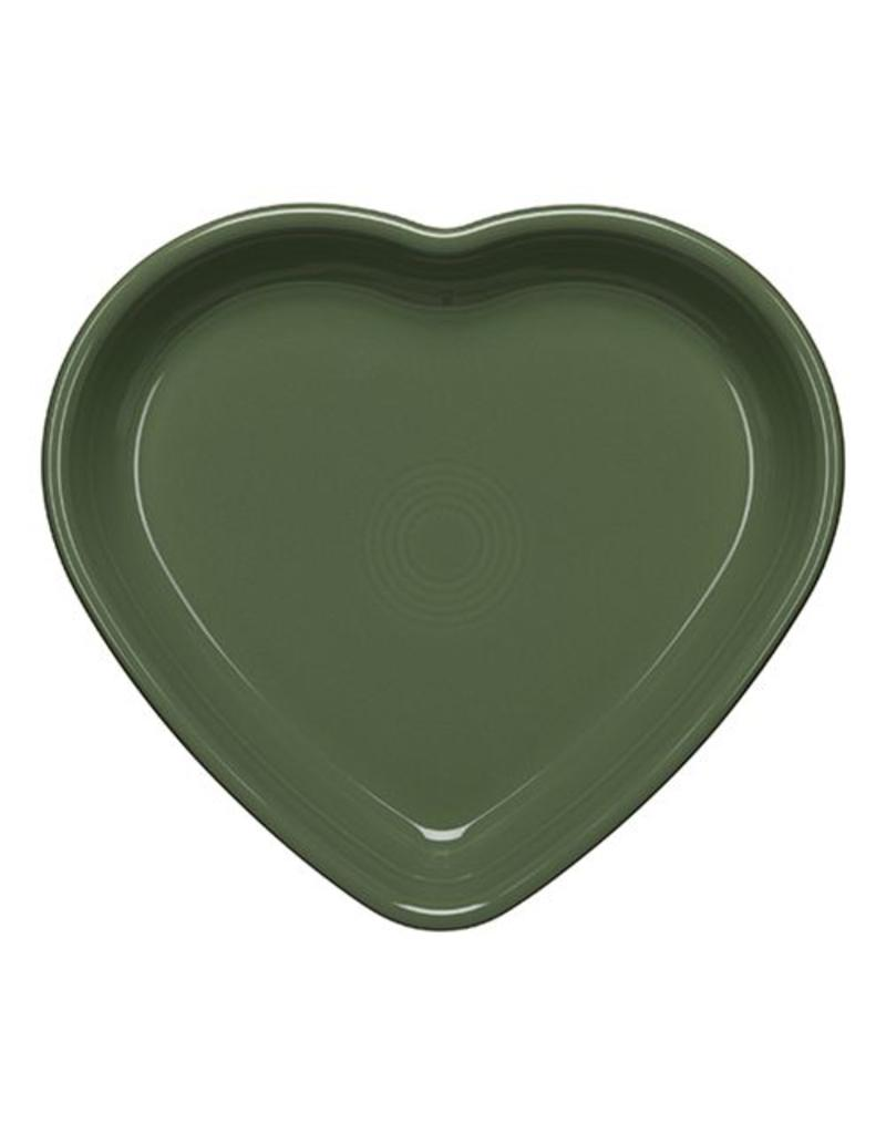 Large Heart Bowl 26 oz Sage