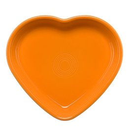 Large Heart Bowl 26 oz Tangerine
