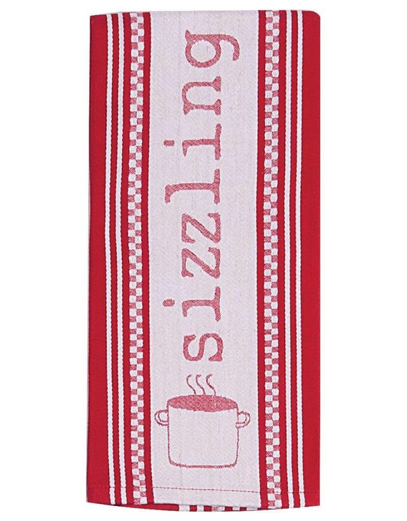 Cookery Sizzling Jacquard Tea Towel