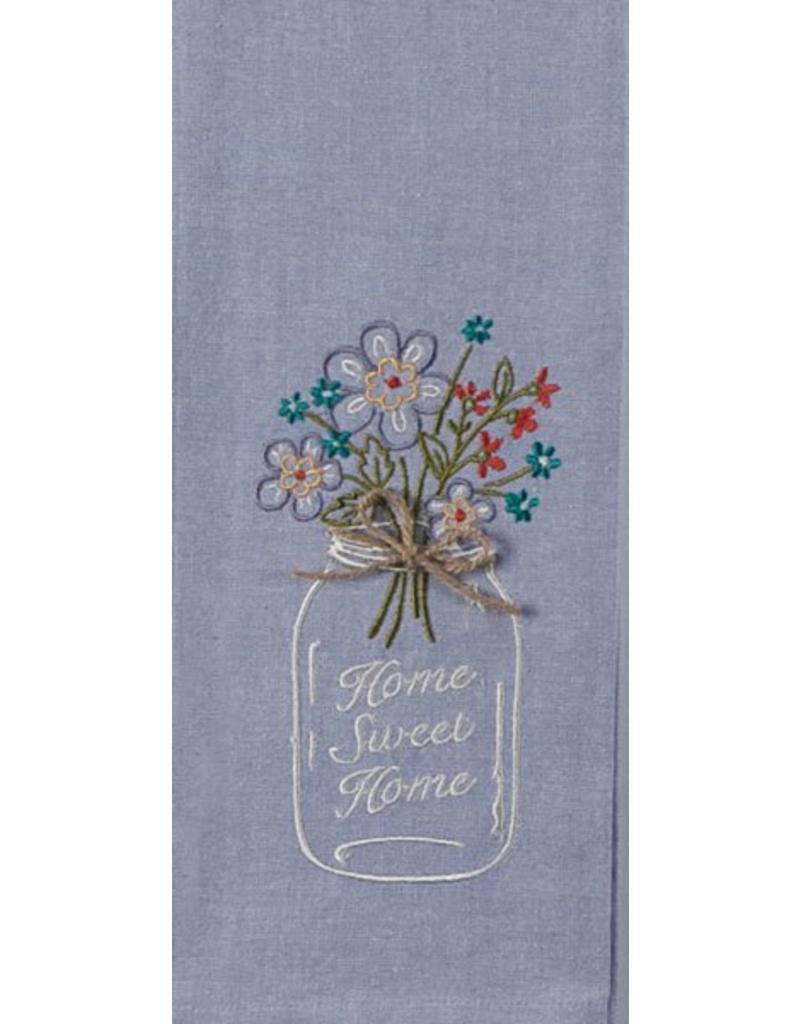 Home Sweet Home Embroidered Tea Towel