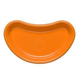 Individual Bistro Crescent Plate Tangerine