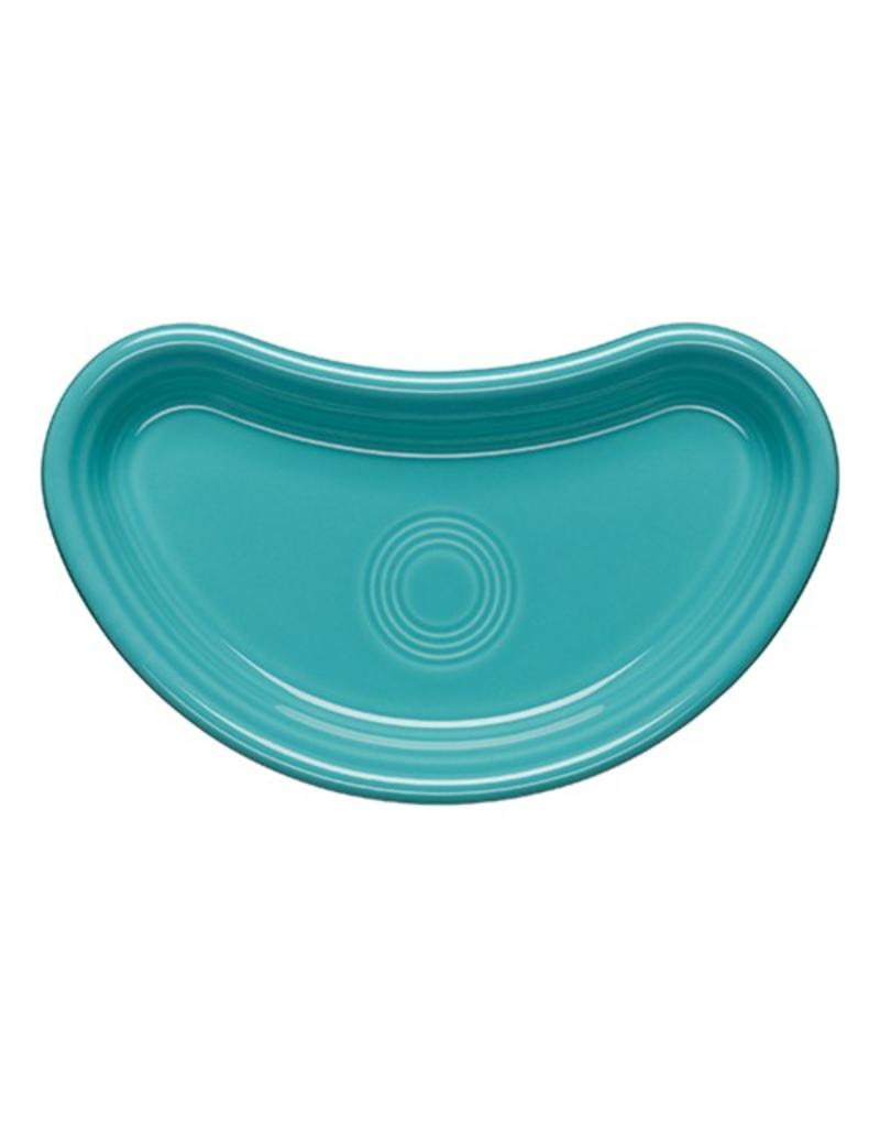 Individual Bistro Crescent Plate Turquoise