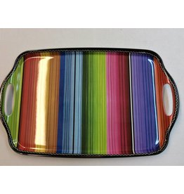 Serape Rectangular Tray with Handles
