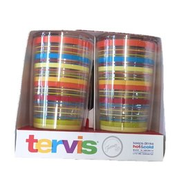 Tervis 4 Pack Poppy Stripes 16 oz Tumblers