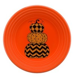 Luncheon Plate Halloween Geo Pumpkin