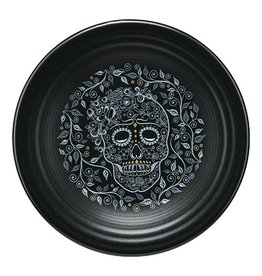 Luncheon Plate Halloween Skull and Vine