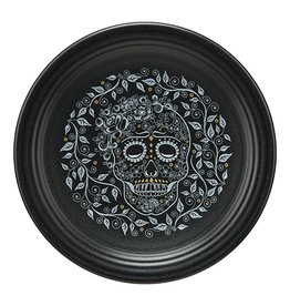 Chop Plate Halloween Skull and Vine