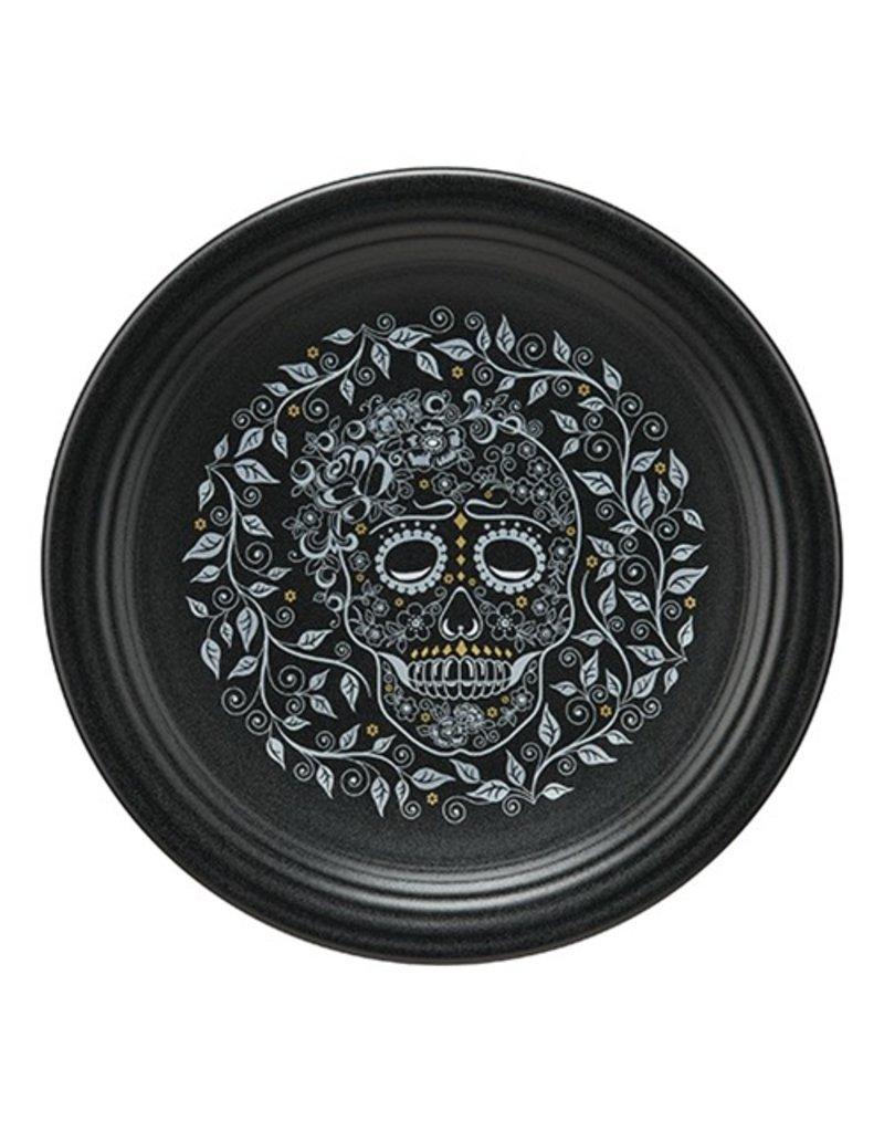 Chop Plate Halloween Skull and Vine