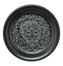 Appetizer Plate Halloween Skull and Vine
