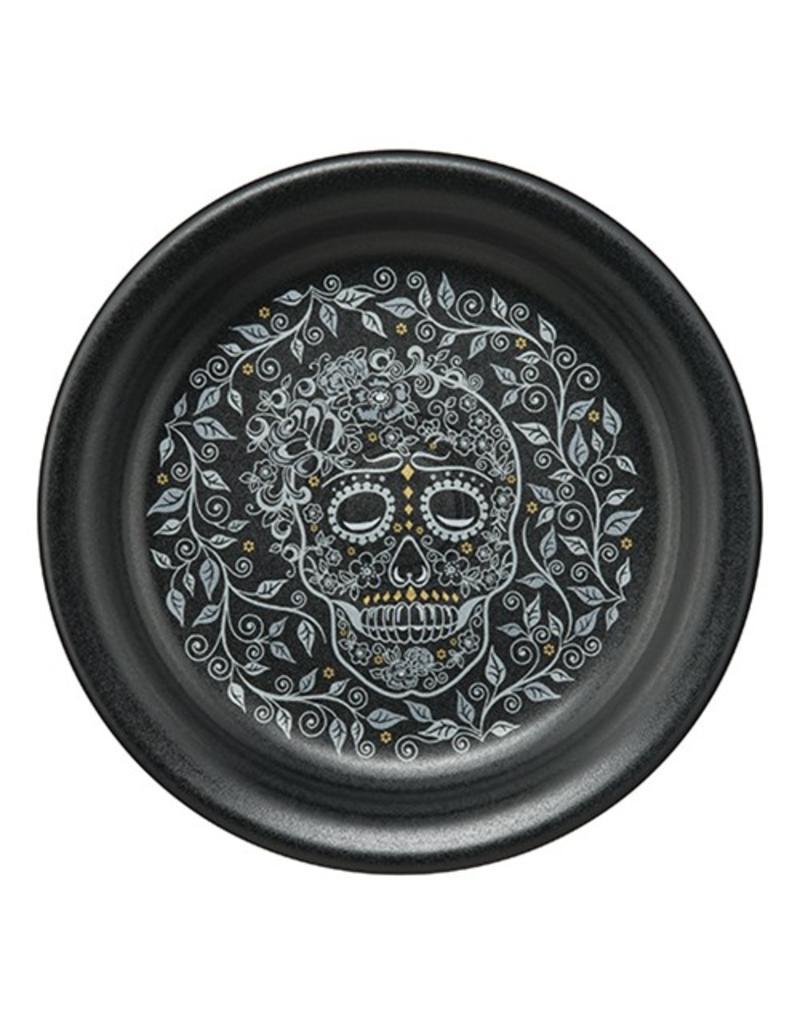 Appetizer Plate Halloween Skull and Vine