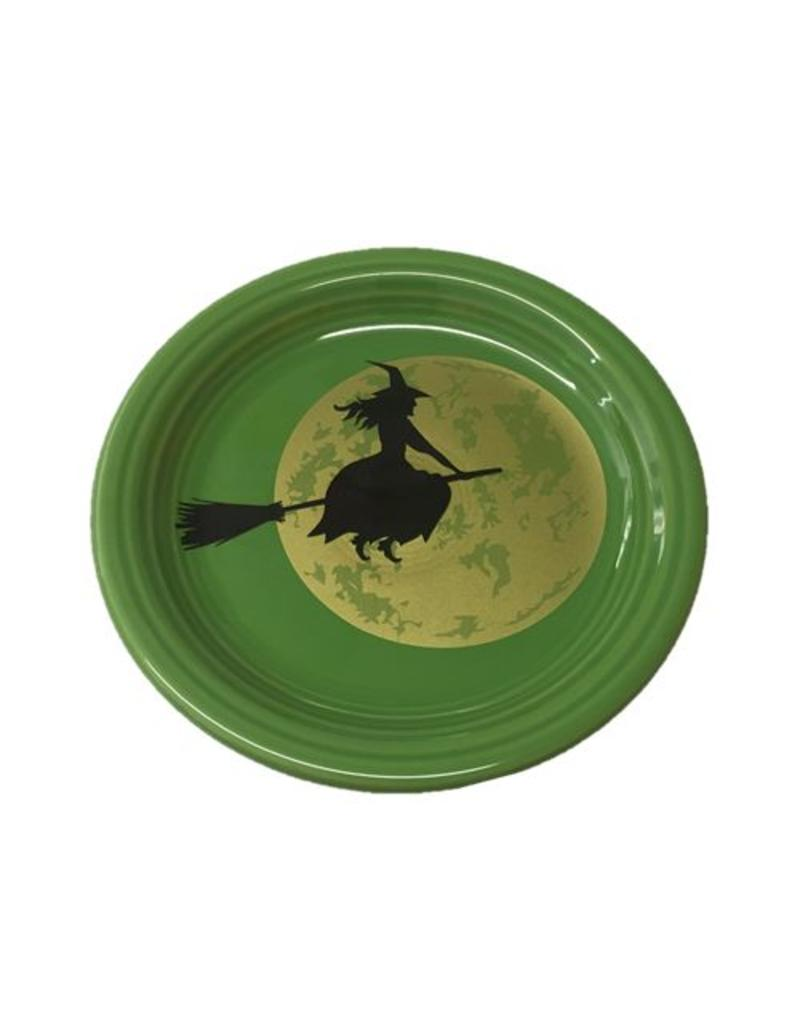 Appetizer Plate Halloween Harvest Moon Witch