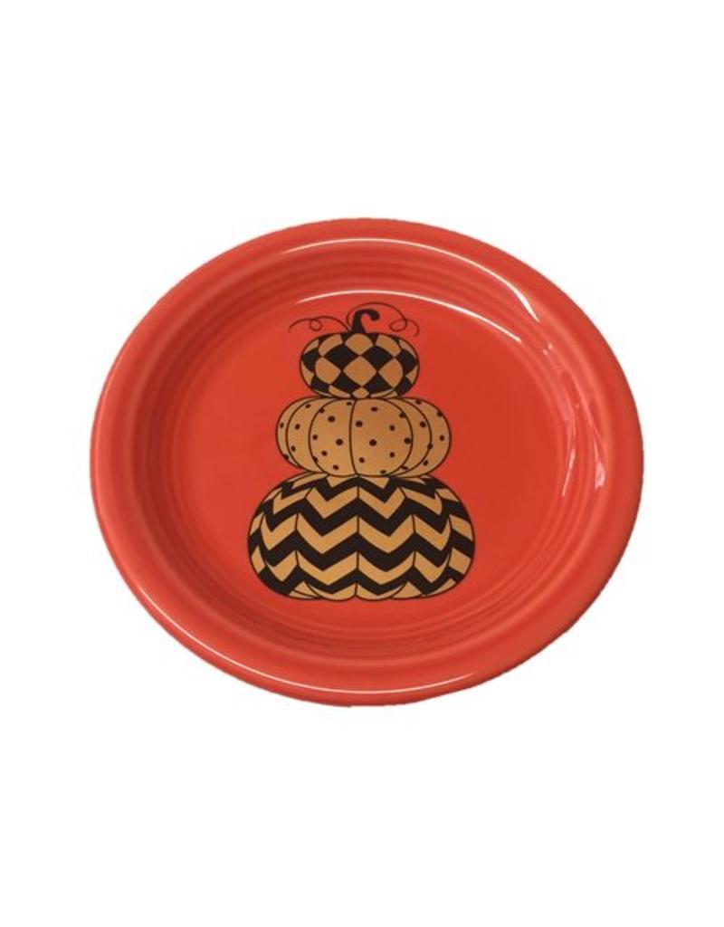 Appetizer Plate Halloween Geo Pumpkin
