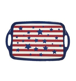 Stars and Stripes Rectangular Tray with Handles