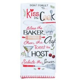 Kiss the Cook Flour Sack Towel