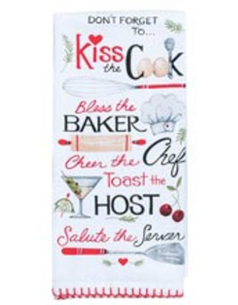 Kiss the Cook Flour Sack Towel