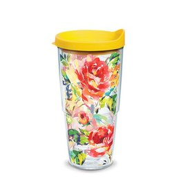 Tervis Rose Pattern 24 oz Tumbler with Lid