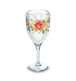 Tervis Rose Pattern Wine Glass
