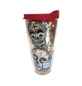Tervis Sugar Skulls 24 oz Tumbler w/lid