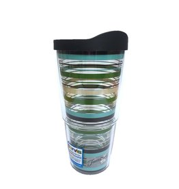 Tervis Cool Blue Stripe 24 oz Tumbler w/lid