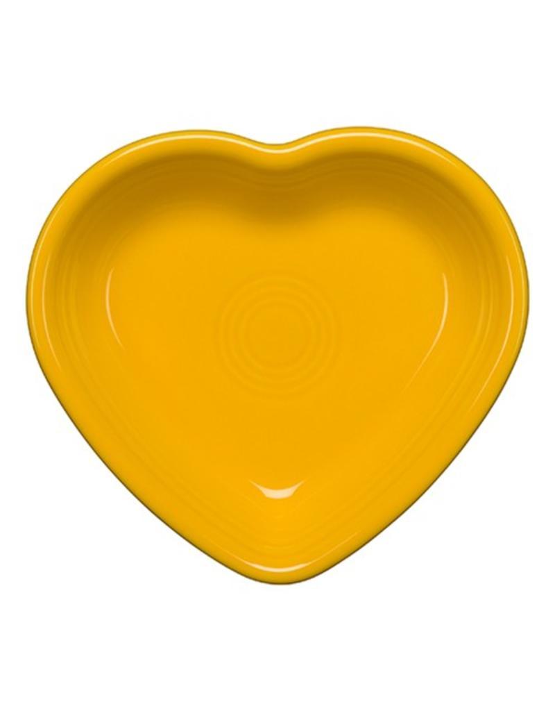 Large Heart Bowl 26 oz Daffodil
