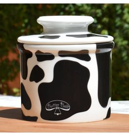 Butter Bell Crock Cowbell Black and White