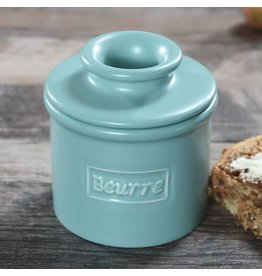 Butter Bell Crock Cafe Matte Aqua