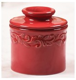 Butter Bell Crock Antique Rouge Red