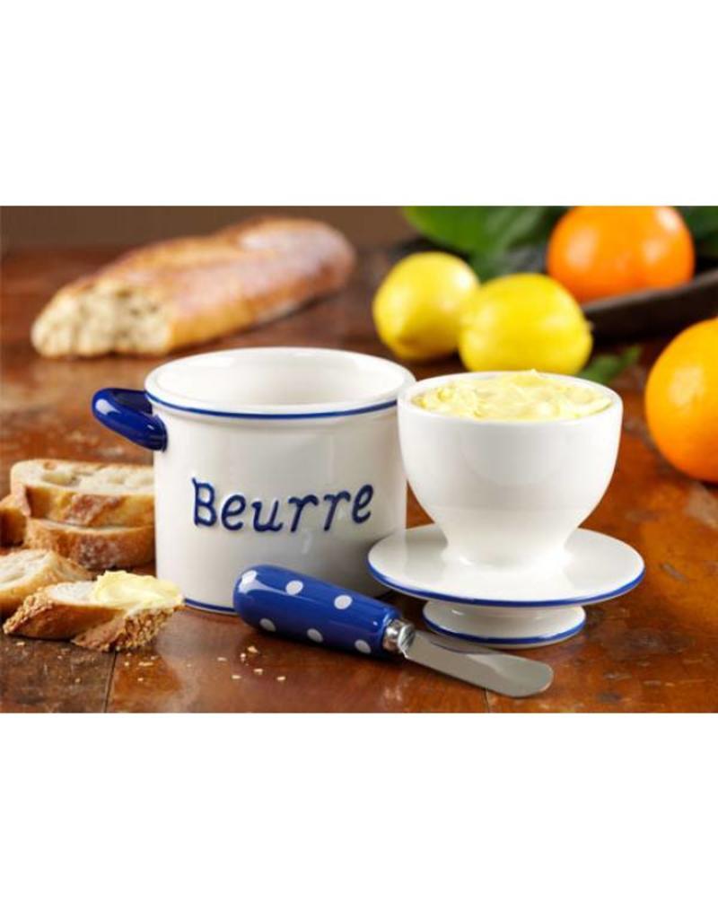 Butter Bell Crock Parisian Polka Dot RED