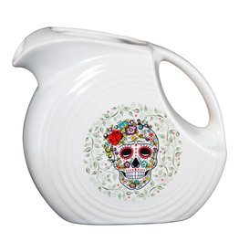 Sugar Skull and Vine Disc Pitcher