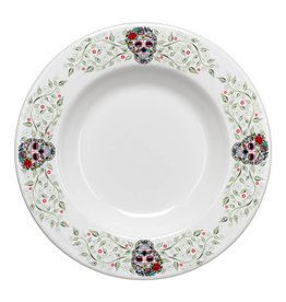"Sugar Skull and Vine Border 12"" Pasta Bowl"