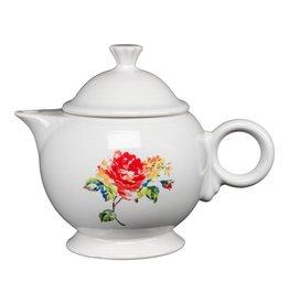 Covered Teapot Floral Bouquet