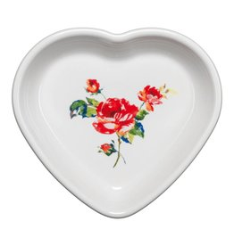 Medium Heart Bowl 17 oz Floral Bouquet
