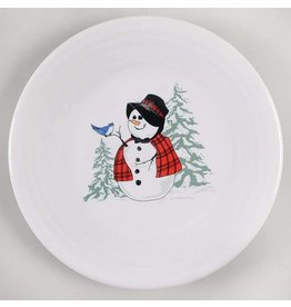 Luncheon Plate Snowlady