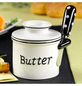 L. Tremain Butter Bell Parisian Polka Dot Spreader Set