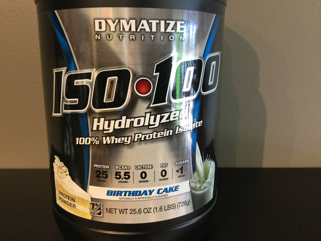 Dymatize Iso 100 Birthday Cake 16lb Grow Stronger Supplements