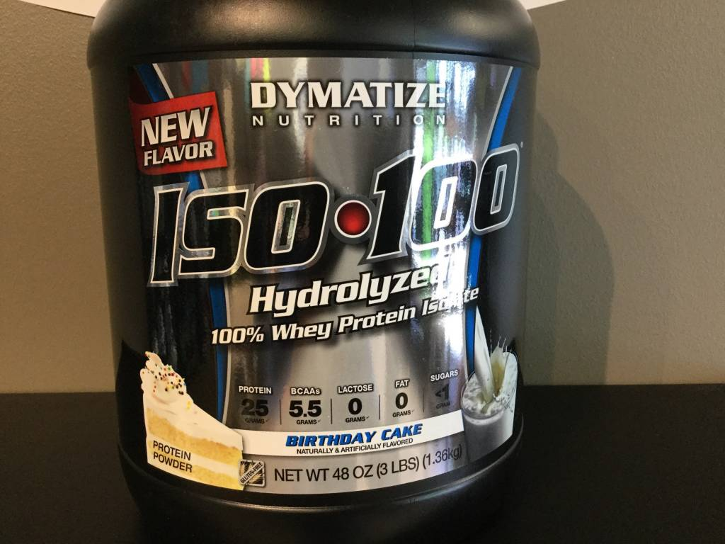 Dymatize Iso 100 Birthday Cake 3 Lb Grow Stronger Supplements