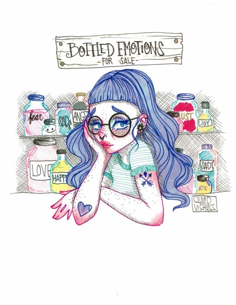 Squid Vishuss Bottled Emotions 8.5x11 Print