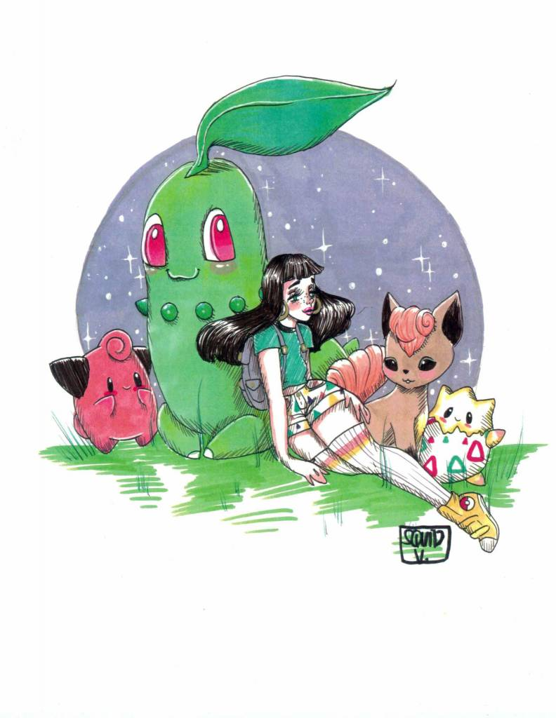 Squid Vishuss Pokemon Trainer 8.5x11 Print