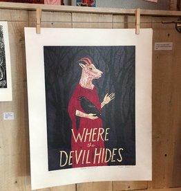 """PureGoldTears by Rachel Urban Rachel Urban """"Where the Devil Hides"""" 4-color Print"""