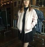 Motel Rocks Satin Bomber Jacket in Pale Pink by Motel Rocks