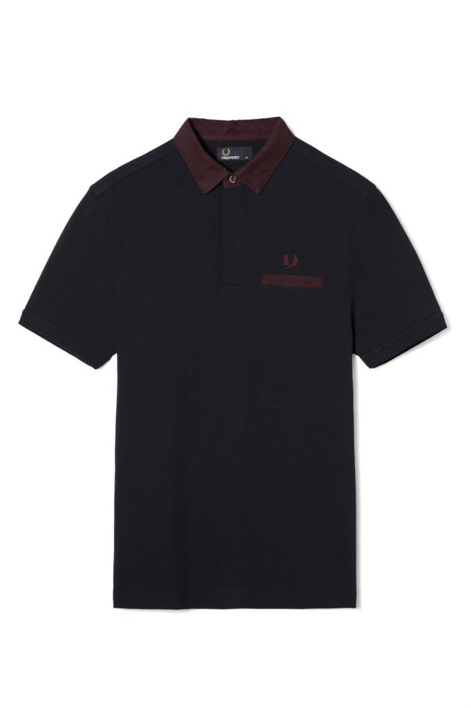 Fred Perry Fred Perry Oxford Trim Collar Pique Shirt