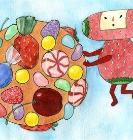 "PureGoldTears by Rachel Urban Rachel Urban ""Ichigo Rolling All Things Sweet"" Print"