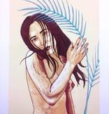 """PureGoldTears by Rachel Urban Rachel Urban """"Portrait as a Kentia Palm"""" 6-color Print"""