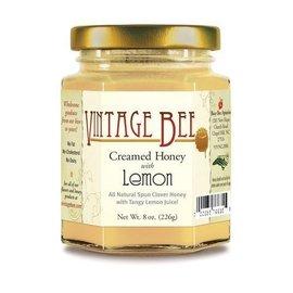 Vintage Bee Honey Jar LEMON