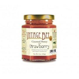 Vintage Bee Honey Jar STRAWBERRY