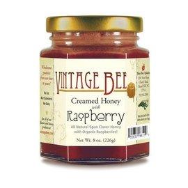 Vintage Bee Honey Jar RASPBERRY