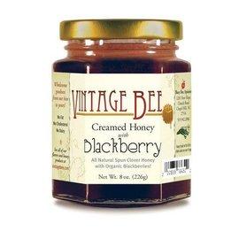 Vintage Bee Honey Jar BLACKBERRY