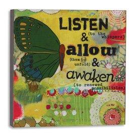 LISTEN ALLOW AWAKEN WALL ART