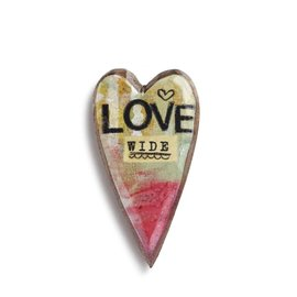 KELLY RAE ROBERTS HEART PIN - LOVE WIDE