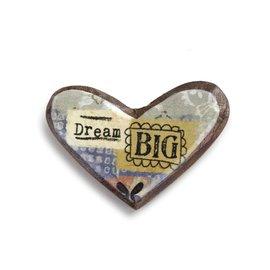 KELLY RAE ROBERTS HEART PIN - DREAM BIGGER